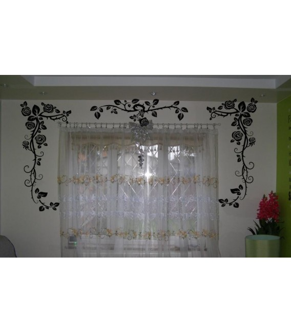 Rose flowers boarder wall sticker for wall decoration, rose flower wall decal.