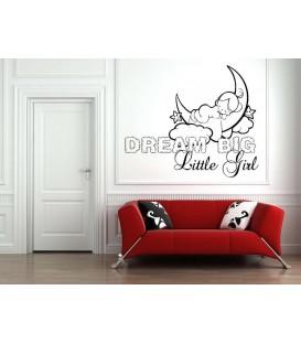 Dream little girl bedroom wall art sticker.