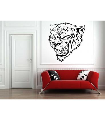 Leopard, animal predator wall art sticker, animal wall art decal, animal wall graphics.