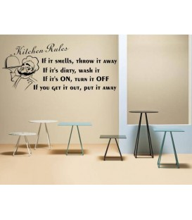 Kitchen Rules dining room wall sticker.
