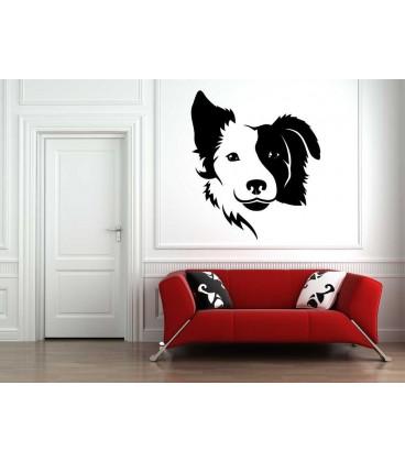 Dog head as bedroom wall sticker.
