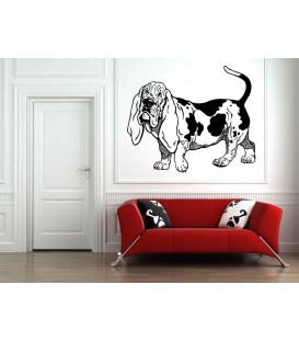 Beagle raining dog as bedroom wall sticker.