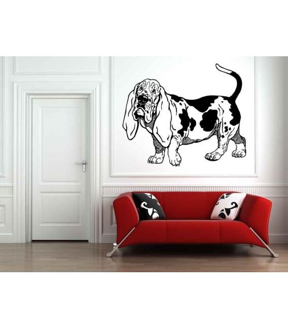 Dachshund dog as bedroom wall sticker.