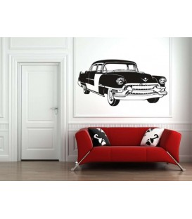 Antique Cadillac wall decal bedroom wall decoration.