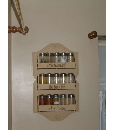 Wooden Spice Rack for your kitchen.