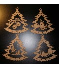 Wooden Christmas decorations set.