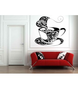 Coffe cup for ipod sticker, tablet sticker, kitchen decorative wall stickers.