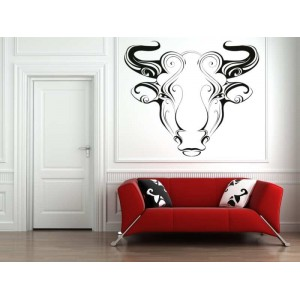 Aries zodiac sign wall sticker and description.