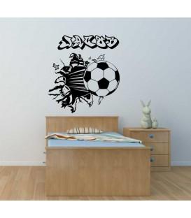 Football protruding wall, boys bedroom giant art wall sticker.