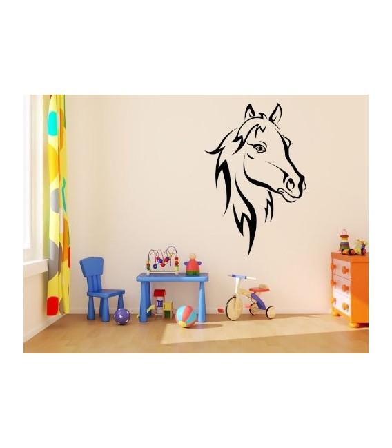 Horse head model 2 art giant wall decal. Ipod sticker, tablet sticker.