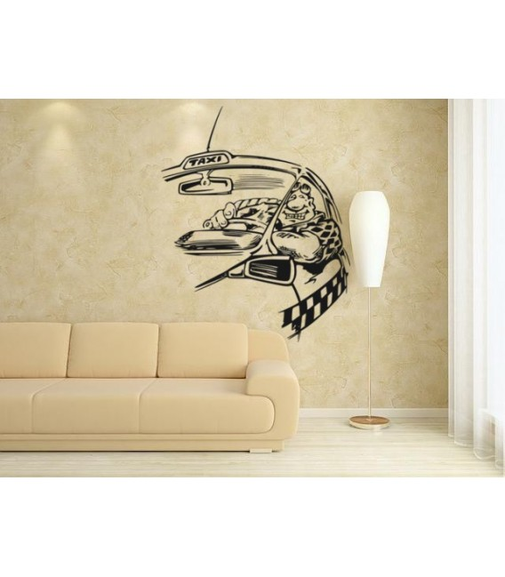 Taxi driver wall art stickers, wall decal, wall graphics.