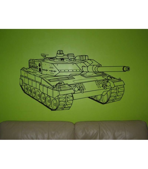 Tank with a child name, personalized boy bedroom wall art decor. Painting stencil.
