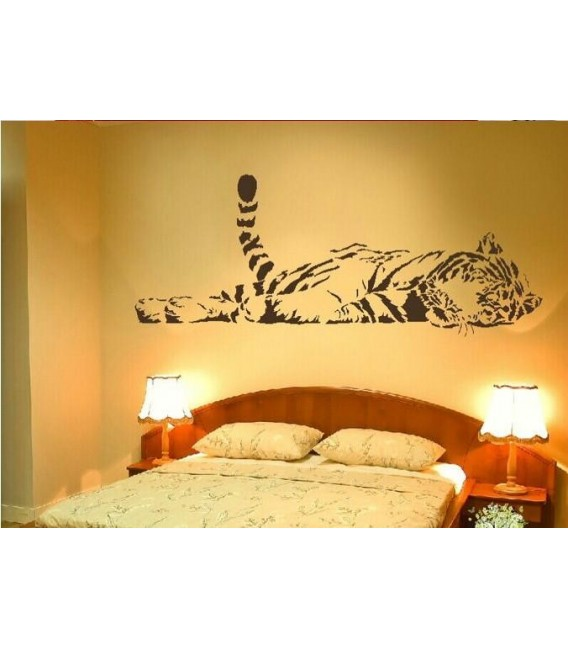 Sleeping tiger, animal predator wall sticker.