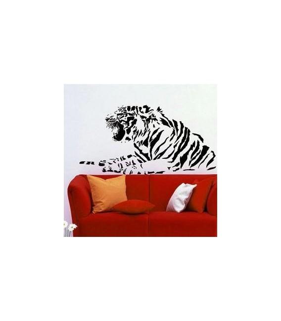 Tiger animal wall art sticker, tiger wall decal.