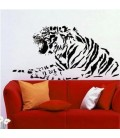 Tiger animal wall art sticker, tiger wall decal.