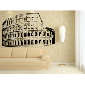Roman Colosseum PVC Wall Stickers, bedroom wall art stickers.
