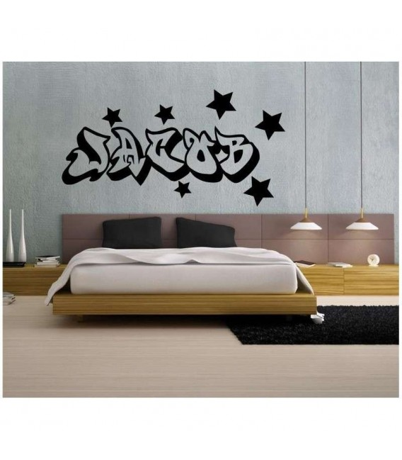 Boys graffiti name wall sticker.