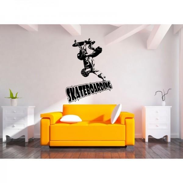 Skateboarder bedroom wall art sticker.