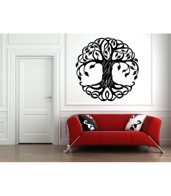 Round tree wall sticker for living room.