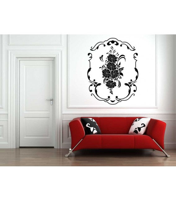 Flowers wall sticker for wall decoration.