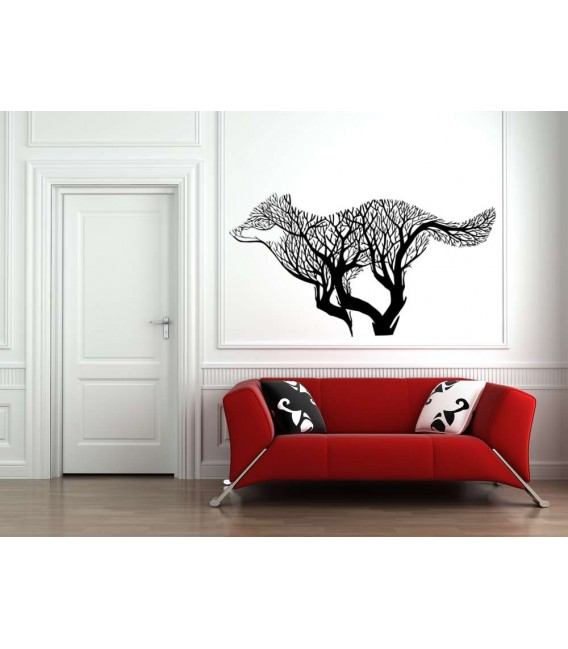 The Wolf tree wall sticker for living room.