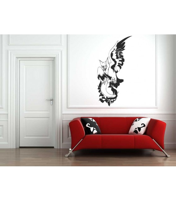 Eagle wolf and moon wall sticker.