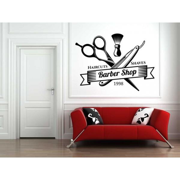 Hairdresser hair salon logo window sign sticker.