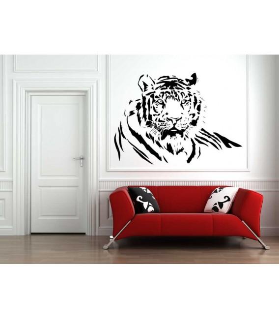 Wild Tiger animal predator wall art sticker, animal wall decal, wall graphics.