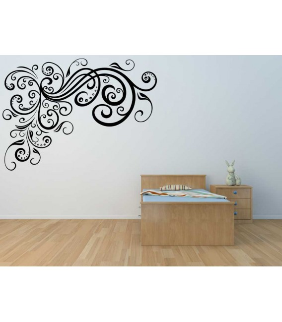 Flower wall sticker for living room wall art decoration.