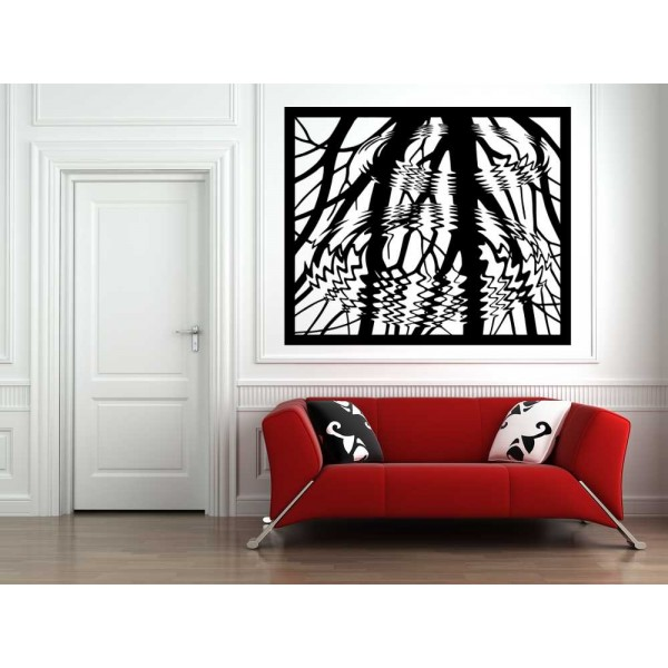 Tree reflection in the water lounge wall sticker.