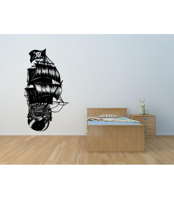A pirate ship wall sticker boy bedroom wall decor.