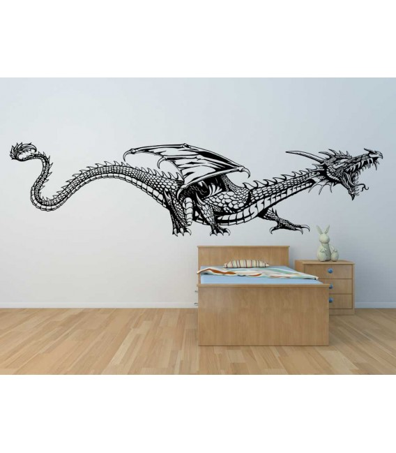 Dragon wall art stickers, chinese dragon wall decals.