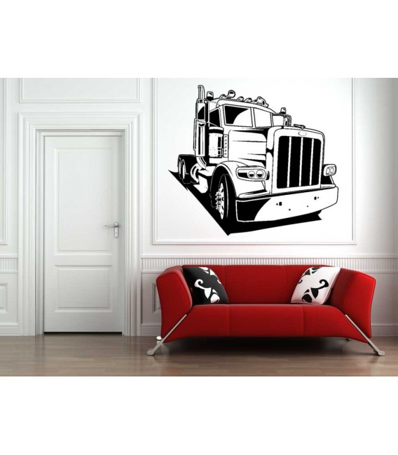 Truck wall sticker for bedroom wall decoration.