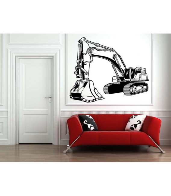 Digger wall sticker for bedroom wall decoration.