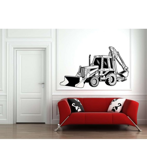 Digger loader boy bedroom wall sticker.