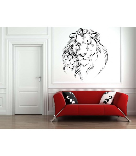 Lion father and son wall art sticker.