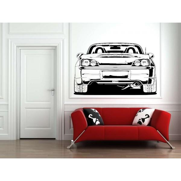 Convertible car boy bedroom wall decal.