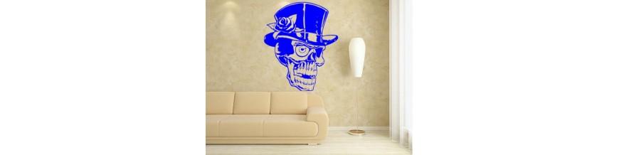 Skull wall sticker.