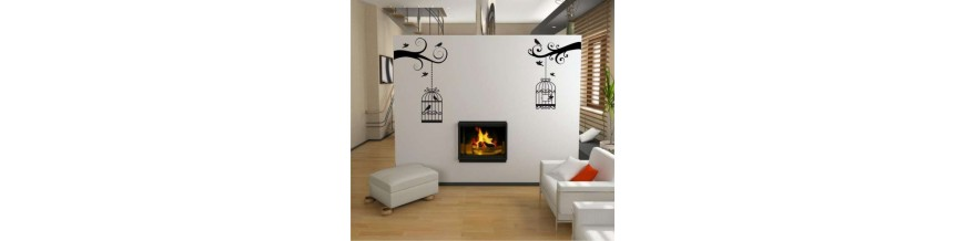 Birds as wall stickers.